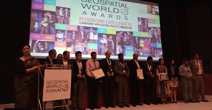 Odisha won Geospatial World Excellence Award 2018
