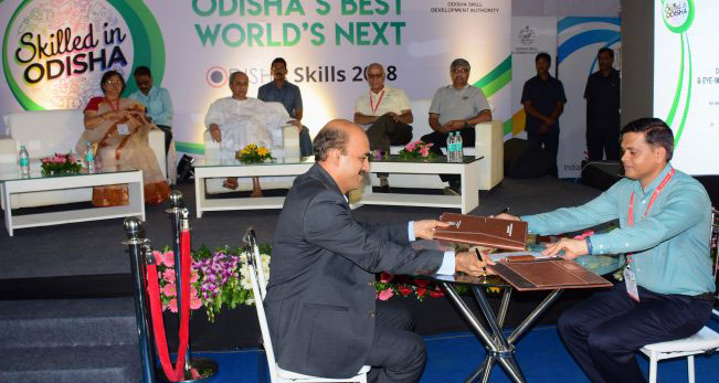 State Government signs five MoUs at Odisha Skills 2018