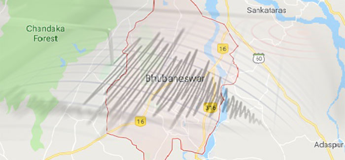 Seismic mapping for the entire Bhubaneswar city