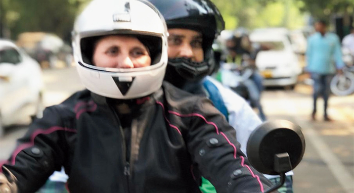 Women bikers of the city rally around on road safety