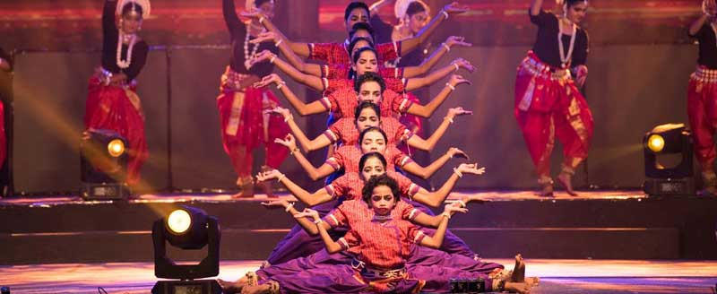 Visual delight of 'SaptaBarna' dance performance at .FEST