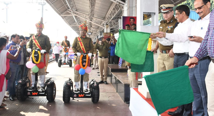 Patrolling scooters in BBSR Railway Station